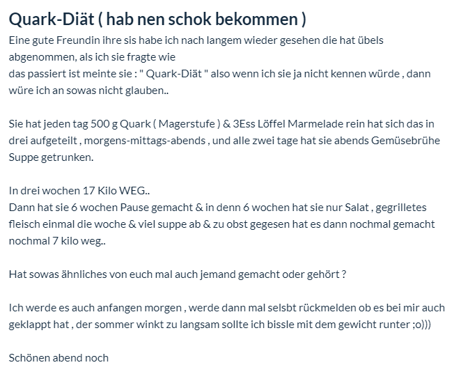 Quark Diat Plan Rezepte Abnehmen Mit Magerquark Schnell